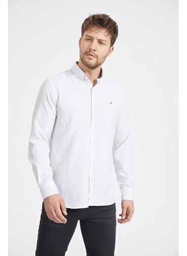 Avva Erkek  Oxford Gömlek A02B2287 Beyaz